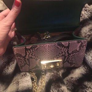 selfmadebabes.com Bags - Padlock Python Shoulder Bag: Genuine Leather